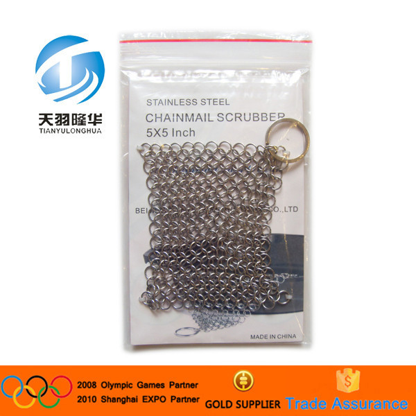 Food grade Stainless steel Weave Type Cast Iron Cleaner