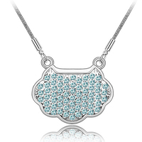 National characteristics swarovski element crystal lucky lock necklace