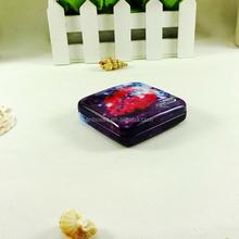Wholesale condom square metal hinged cover tin box