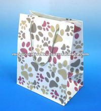 Glossy Custom Printed Paper Gift Bag