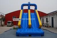 Frog design large inflatable swimming pool slide,hot sale cheap slide for pools