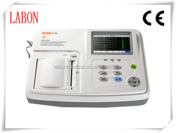 3 channel full digital portable touch screen automatic report protable ECG machine