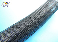 Heat Resistant Black Self-Wrap Braided Cable Sleeving For Cable Management