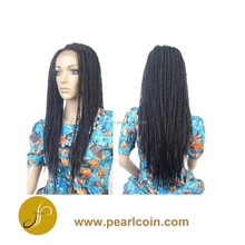 2015 Hot Synthetic Kanekalon Toyokalon Fiber 22 Inches Senegal Twist Braid Lace Front Wig