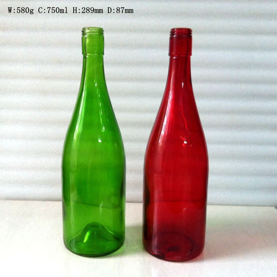 750ml colored glass wine bottles with screw cap wholesale
