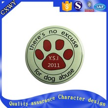 2015 Hottest Custom Tinplate Pin Badge for dog protection