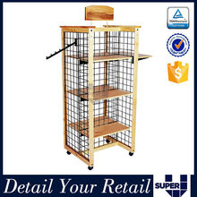 Floor stand powder coated wire shelving display