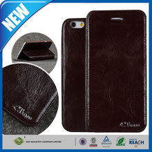 C&T Customized design new trendy real leather case skin flip cover pouch wallet for iphone 6 plus