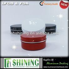 Aluminium round tin can for candle window deep round tin box
