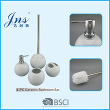 Round ceramic white oriental bathroom accessories