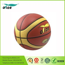 12 pannels durable leather street basketball size 5