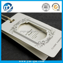 Custom printing hollowed-out clothing hang tag in China