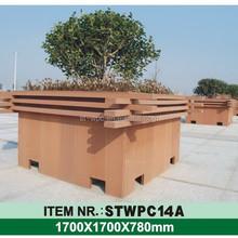 Modèle en bois résistant aux UV alibaba différents types de jardin en bois pot de fleur