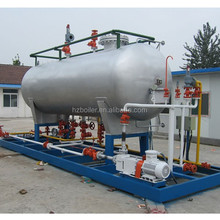 Best selling 10000L lpg tank skid mounted filling station