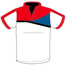 P10-277 rot einzigartige kundenspezifische sublimation sport poloshirt
