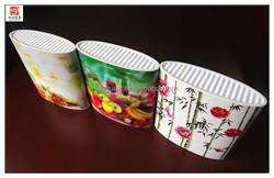 BL104 colorful pattern popular kitchen knife block