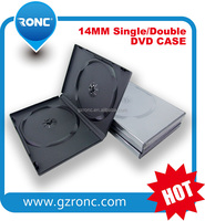 14mm Standard Double Black DVD Case, Long DVD Box 14mm,