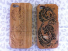 Carving diagram megalosaurus wood cover for iphone 5