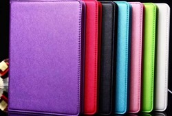 Luxury Cross Pattern Faux Leather Flip Case For ipad air with Credit Card Slots
