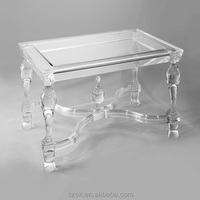 luxury design clear acrylic crystal coffee tables for home decoration wholesale