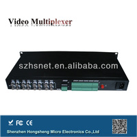 16 channel digital video audio fiber optical multiplexer Transmitter Receiver with 1 Reverse Data for IP surveillance