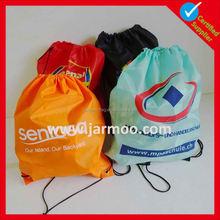 Customized logo cheap graphic printed string bag