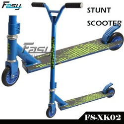 blue kids and adult age stunt scooter