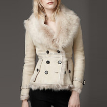 2015 New Style Women Winter Fur Jacket Spanish Sheep Skin Fur Coat