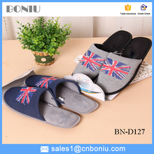 cotton indoor slipper winter shoes with UK flag
