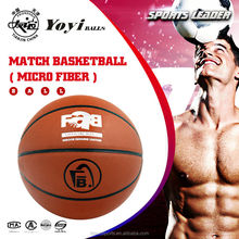 high quality Imported micro fiber composite PU leather basketball for match or practice