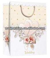 Large size gift paper bag & nice designs art paper