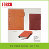 wholesale A5A6 Hardcover logo spiral leather notebooks for promotional gift