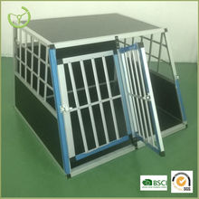 Dog cage for sale cheap with aluminum bars and double doors