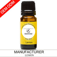 OEM/ODM lemon essential oil, 100% pure and natural 10ML suppy private label