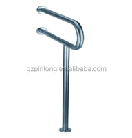 Flooring 304 stainless steel Grab Bar for the disabled toilet handrail