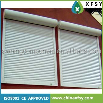 Electric window exterior roll up shutters buy exterior roll up shutters product on for Roll up window shutters exterior