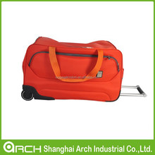 Folding Trolley Duffle Bag, Rolling Carry On Luggage Tote Suitcase