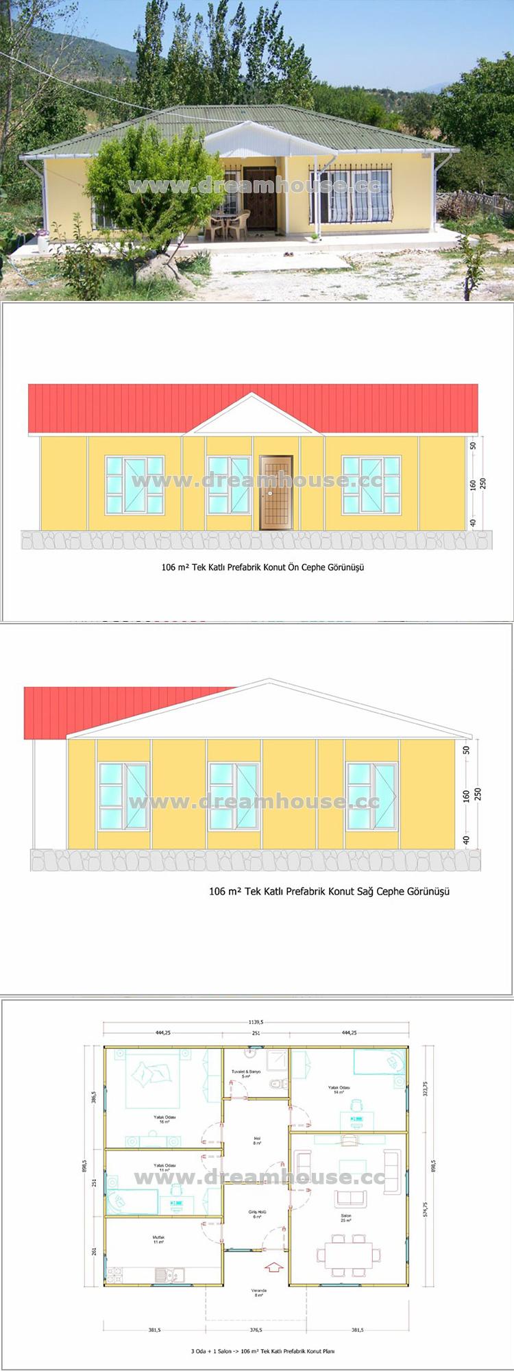 Hot 2016 New Design Prefabricated House Plans Economic