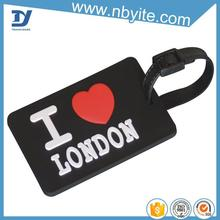 China supplier Mix color WHOLESALE 10pcs new cute Cartoon style rubber luggage tag card cover