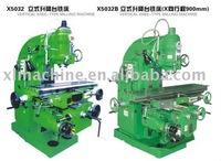 gear driven milling head vertical milling machine