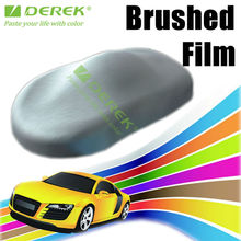 Derek Special offer Brushed film cars sticker decals with bubbles free