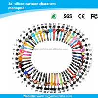 2015 New Cartoon characters design ,wired monopod for smartphone
