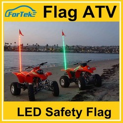 safety flags 6ft 7ft atv led lights flag whip Driving module strobe with remote control