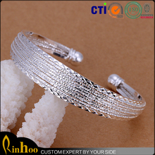 China Factory New Arrival Jewelry On Factory Price, Fashion Silver Channel Bracelet For Women Latest Style Fashion Bracelets