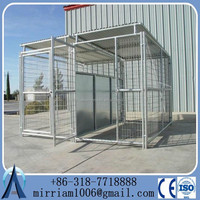 China supplier wholesale 2 sections animals fence pens big dog playing cages waterproof pets kennels