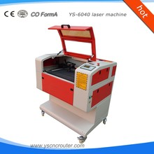 ys 6040 craftwork laser machine on non-metal for shellfish