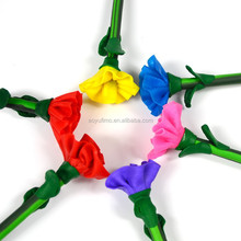 Factory wholesale 20pcs/lot polymer clay carnation flower ballpoint pen stationery school students prizes gift 0.5mm refill