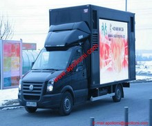 outdoor mobile video P16mm led display/HD movable truck P16 led screens