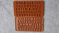 silicone chocolate alphabet moulds for decorating