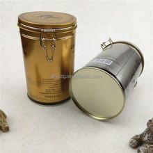 wire lock tin can custom printing tea packing use